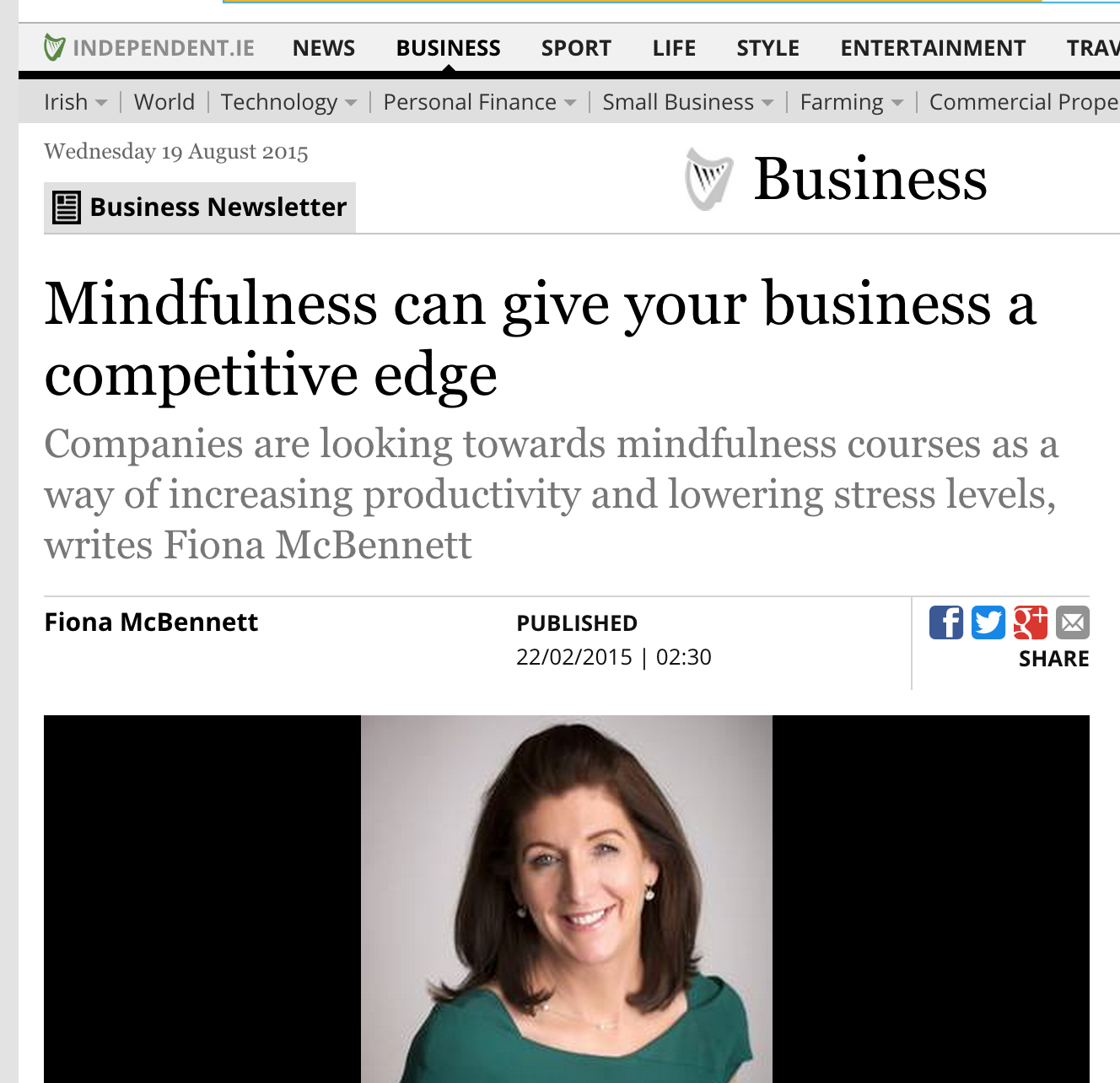Sunday Independent : Mindfulness can give your business a competitive edge