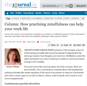 Mindfulness Training for the Workplace