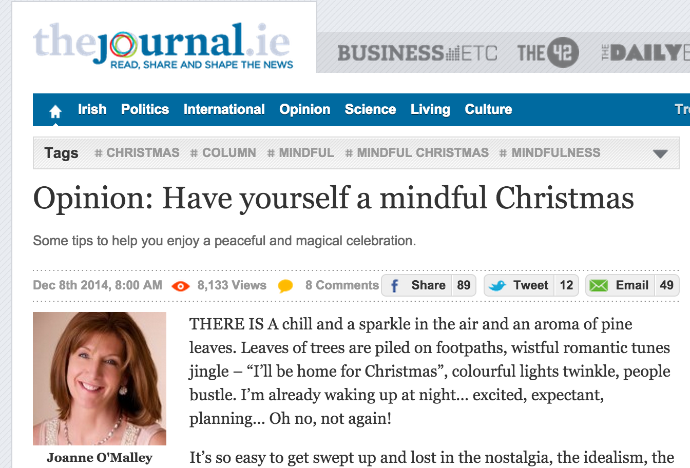 The Journal : Opinion – Have yourself a Mindful Christmas