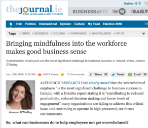 Bringing Mindfulness into the workforce makes good business sense